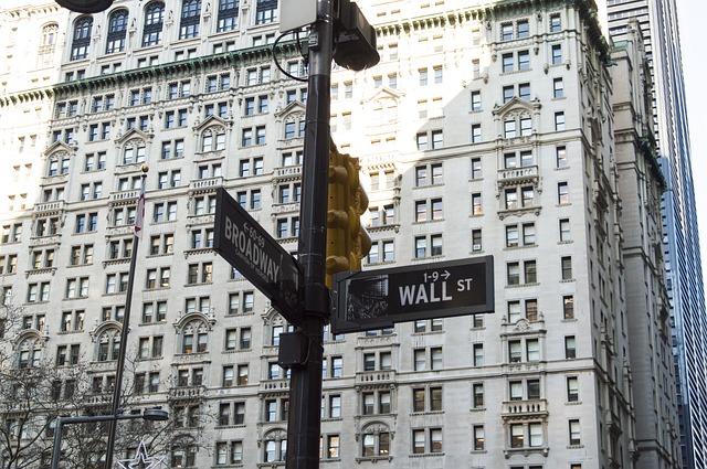 Wall Street i New York, her handles aktier