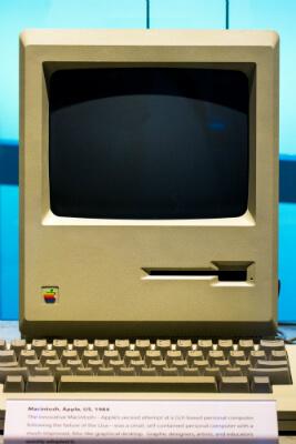 Apple Macintosh fra 1984, dengang vækstaktien var ny