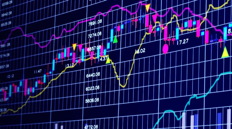 Renten og aktiemarkedet sammenhængen illustreret i en graf
