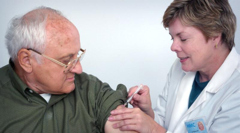 Patient modtager vaccine mod Corona virus